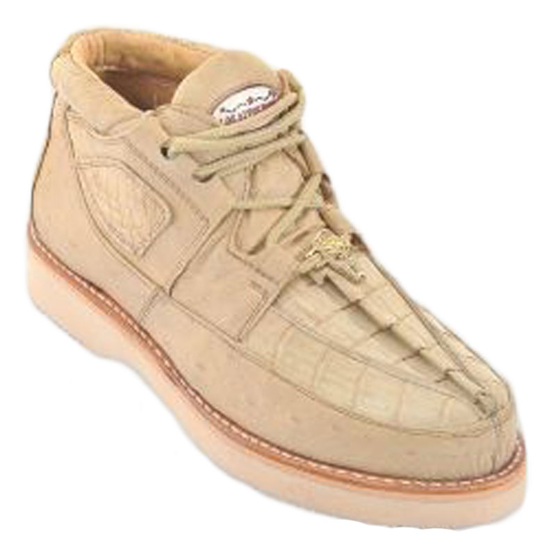 Los Altos Caiman Belly & Smooth Ostrich Shoes Oryx Image