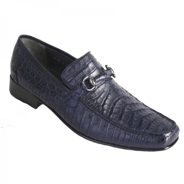 Los Altos Caiman Bit Loafers Navy Image