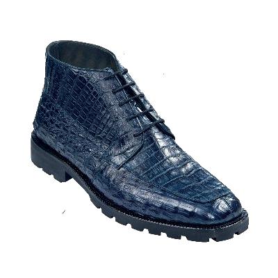 Los Altos Caiman Belly Boots Blue Image