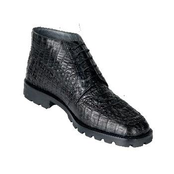 Los Altos Caiman Hornback Boots Black Image