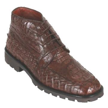 Los Altos Caiman Hornback Boots Brown Image