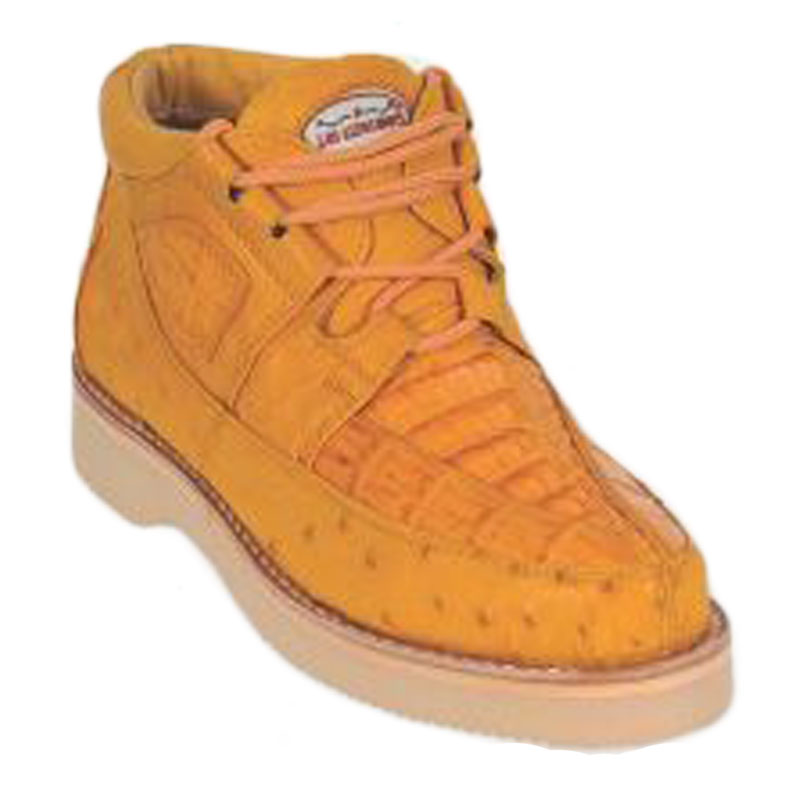 Los Altos Caiman & Ostrich Casual Shoes Buttercup Image