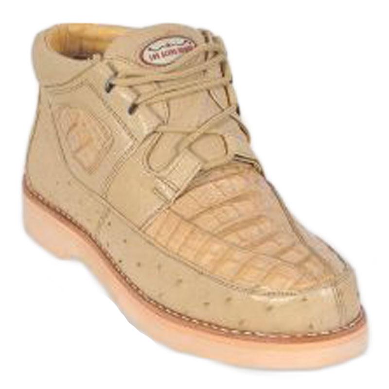 Los Altos Caiman & Ostrich Casual Shoes Oryx Image
