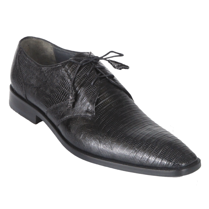 Los Altos Lizard Derby Shoes Black Image