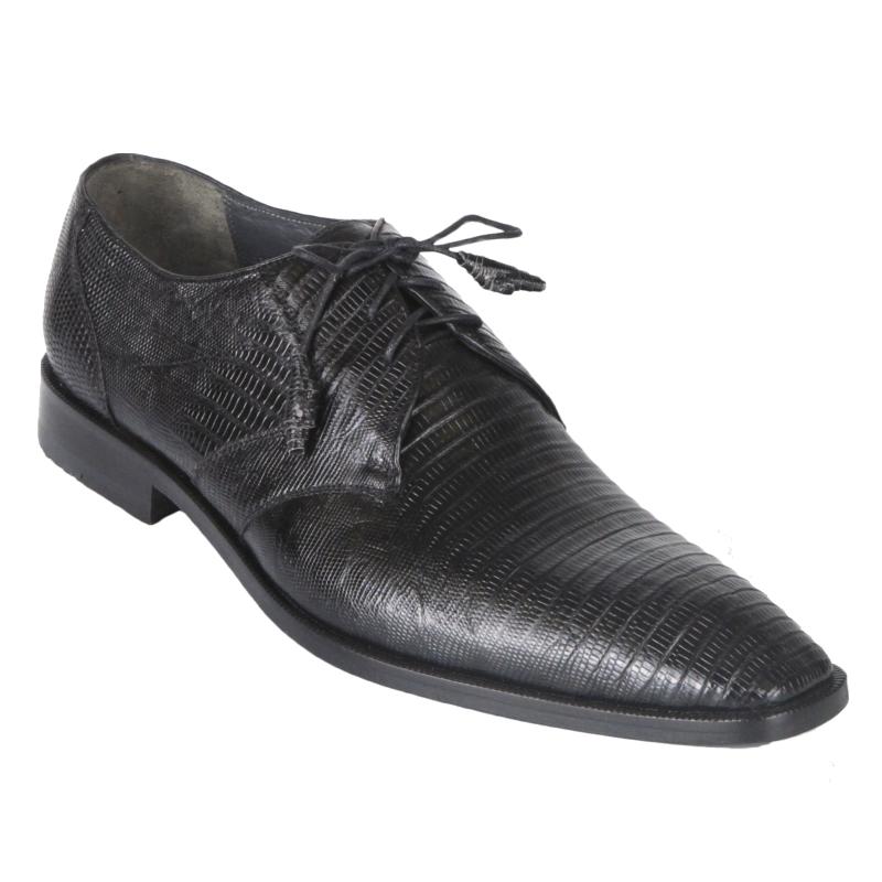Los Altos Lizard & Caiman Cap Toe Shoes Navy Image