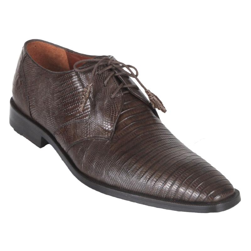 Los Altos Lizard Derby Shoes Brown Image