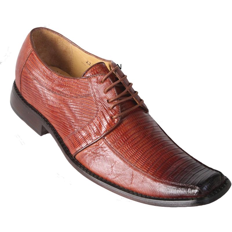 Los Altos Lizard Dress Shoes Cognac Image