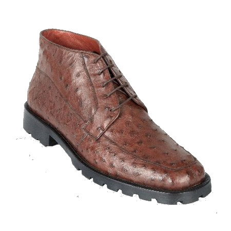 Los Altos Ostrich Quill Boots Brown Image