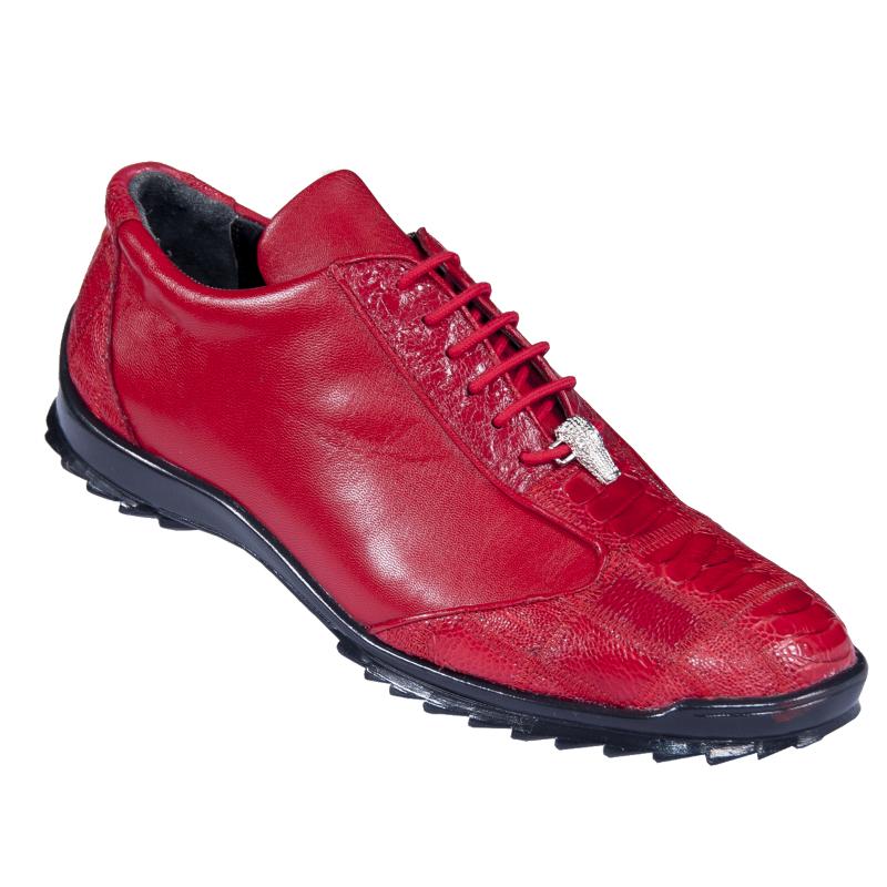 Los Altos Ostrich Sneakers Red Image