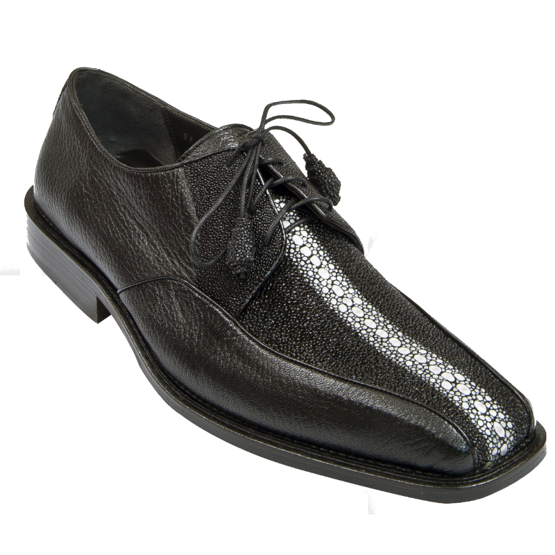 Los Altos Stingray & Deerskin Bicycle Toe Shoes Black Image