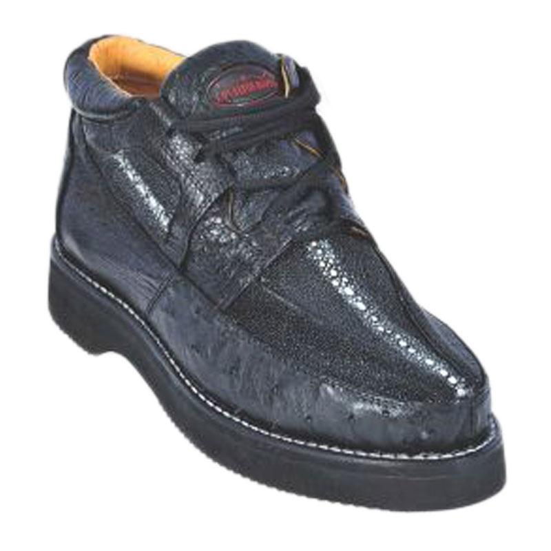Los Altos Stingray & Ostrich Casual Shoes Black Image