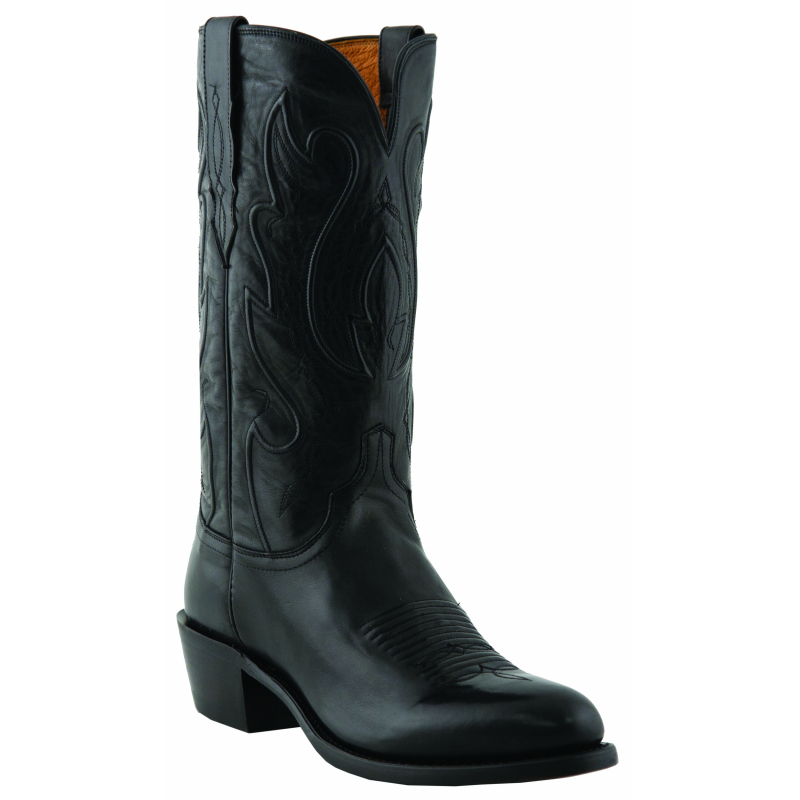 lucchese m1006 r4 ranch leather boots black