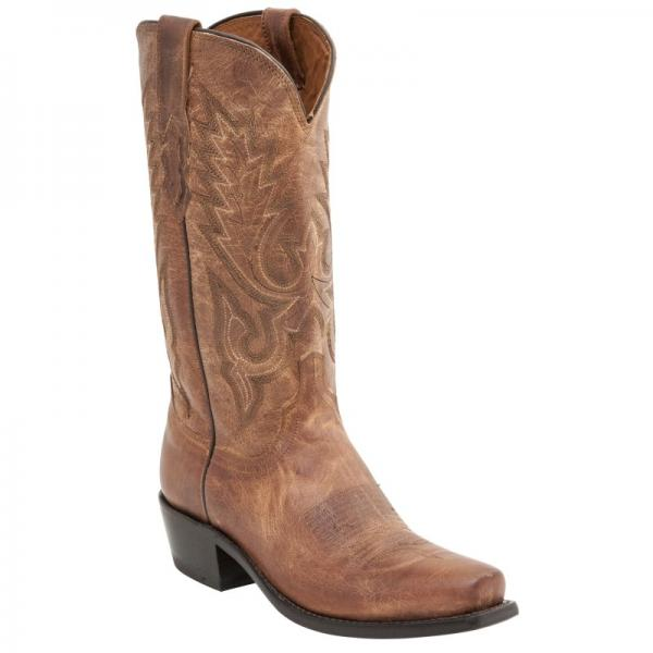 Lucchese M1008.S74 Goat Leather Boots Tan Image