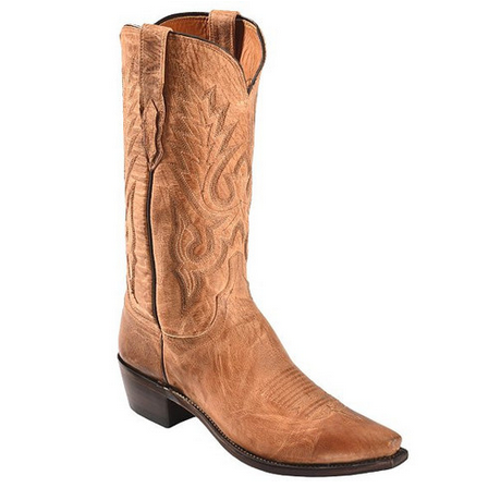 Lucchese M1008.S54 Goat Leather Boots Tan Image