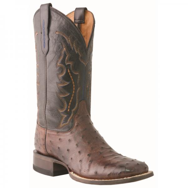 Lucchese M1611.TWF Hogan Ostrich Quill Boots Sienna Brown Image