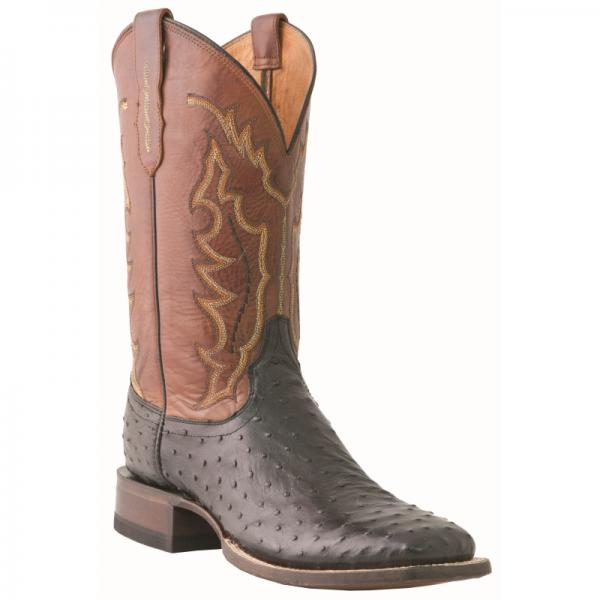 Lucchese M1612.TWF Hogan Ostrich Quill Boots Black Image