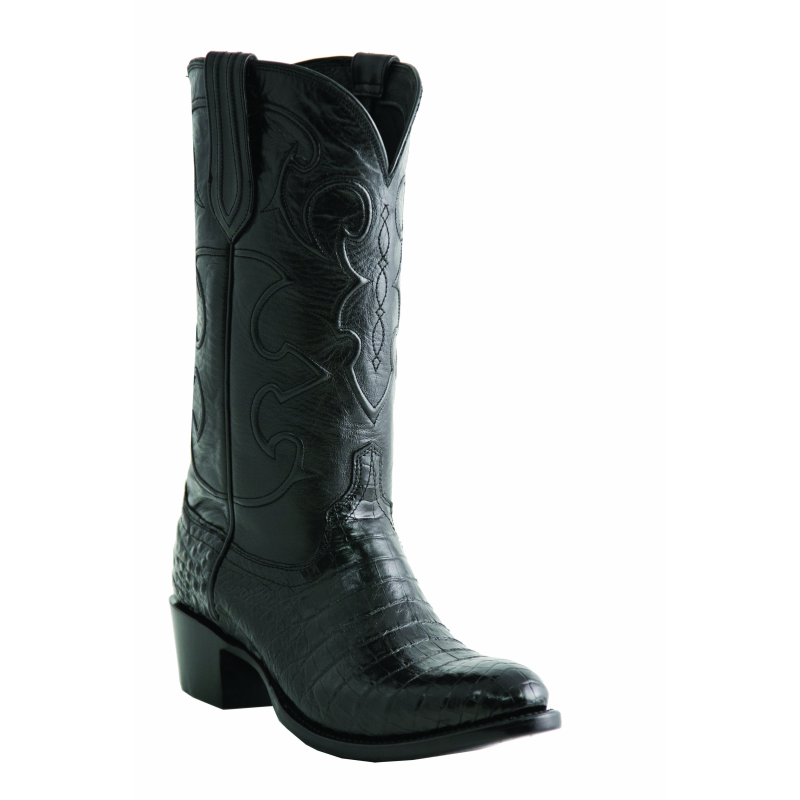 Lucchese M1636.S54 Belly Crocodile Boots Black Image