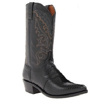 Lucchese M2900.R4 Silas Lizard Boots Black Image