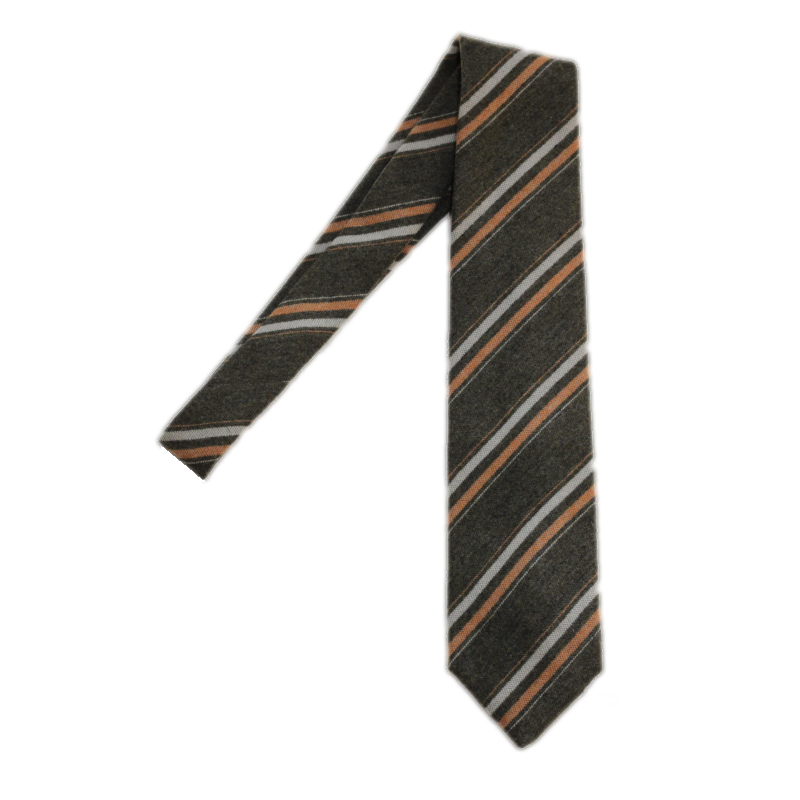Luigi Monaco Cashmere Striped Tie Image