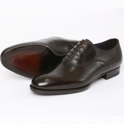 Massimiliano Stanco Goodyear Welted Oxfords Café Image