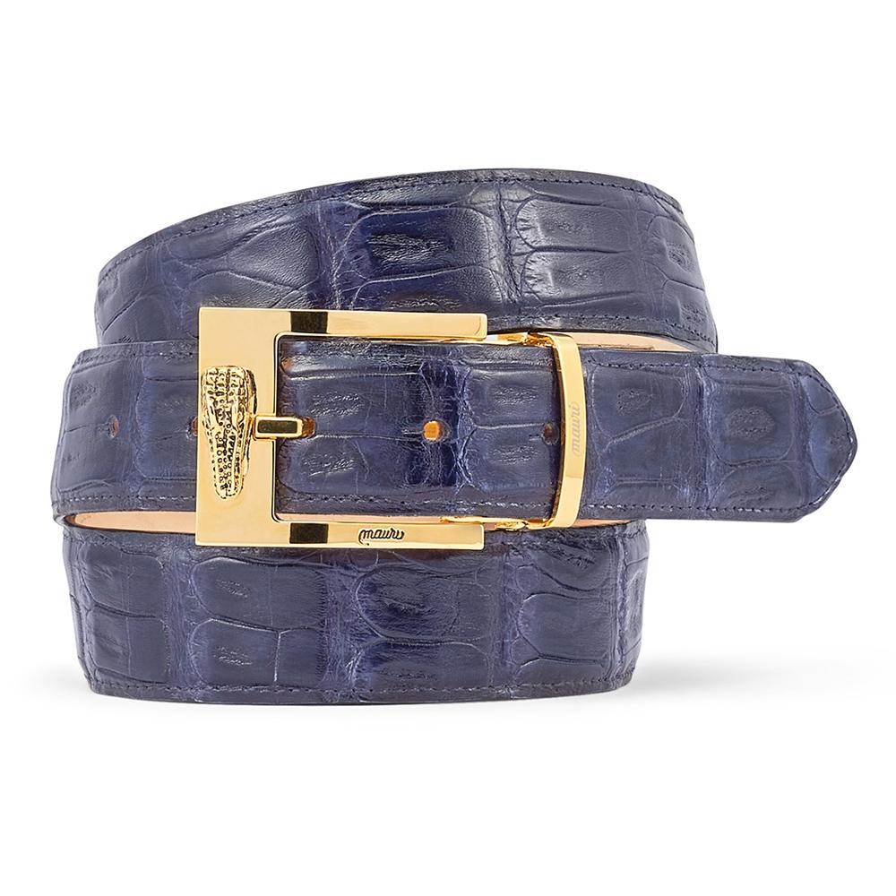 Mauri 0100/35 Baby Croc Belt Navy Blue Image