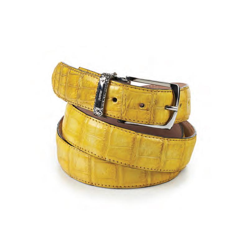 Mauri 0100-35 Body Alligator Belt Yellow Image