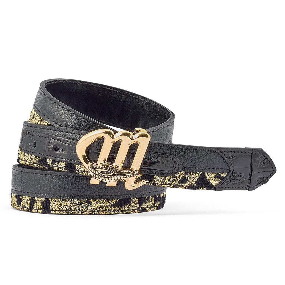 Mauri 0102/35 Croc / Didier Fabric & Time Belt Black / Gold Image