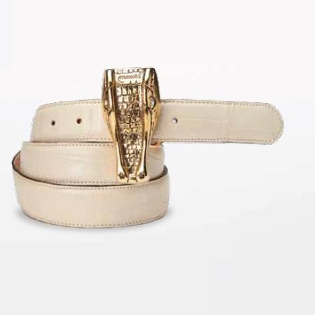 Mauri 100-35 Alligator Belt Cream (Special Order) Image