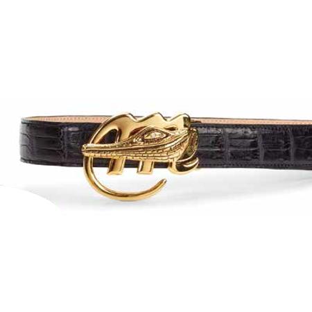 Mauri 100-35 Baby Crocodile Belt Black (Special Order) Image
