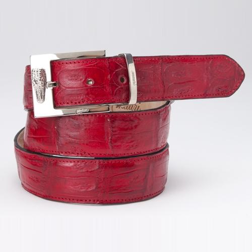 Mauri 100-35 Baby Crocodile Belt Red Image