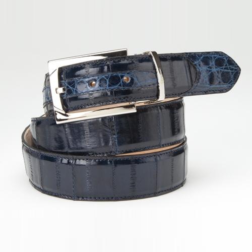 Mauri 100-35 Crocodile & Eel Belt Wonder Blue (Special Order) Image