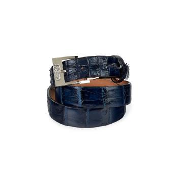 Mauri 100-35 Hornback & Baby Crococile Crocodile Belt Wonder Blue (Special Order) Image