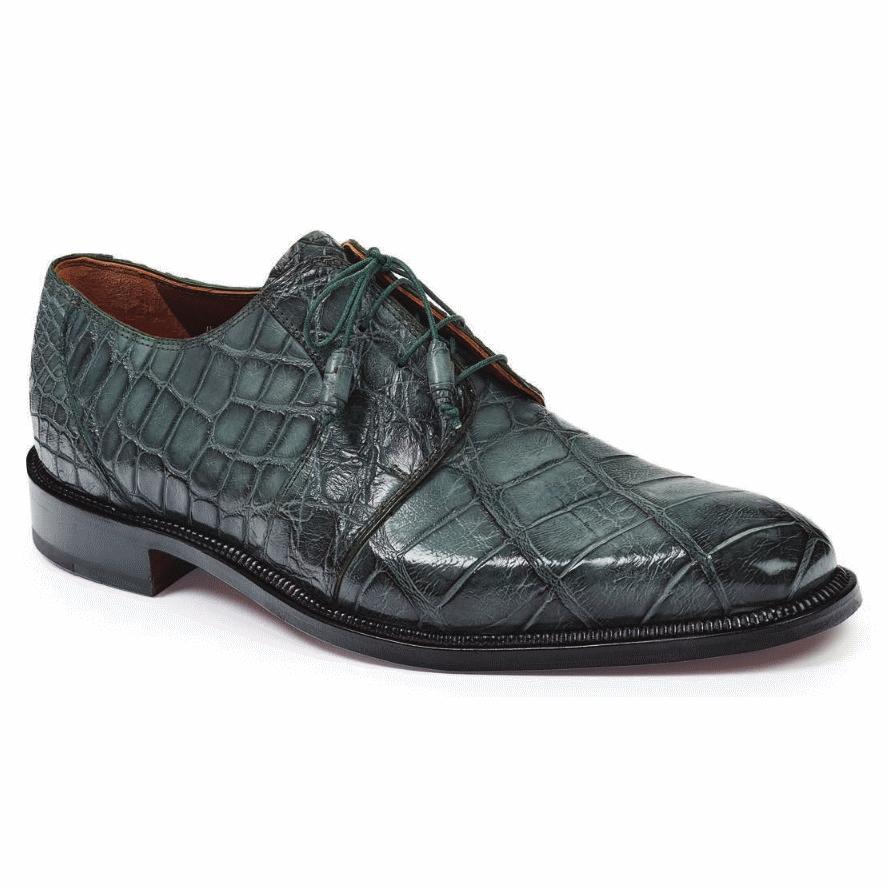 Mauri 1003 Massari Alligator Shoes Olive (Special Order) Image