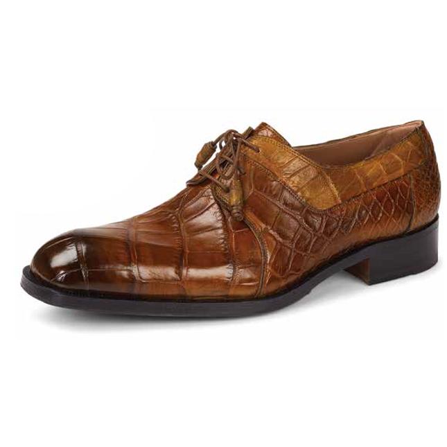 Mauri 1061 Bagutta Alligator Derby Shoes Olive/Green (Special Order) Image