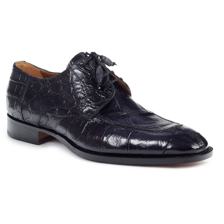 Mauri 1081 Alligator Apron Toe Shoes Black (Special Order) Image