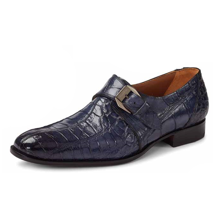 Mauri 1090 Manzoni Alligator Monk Strap Shoes Charcoal Gray (Special Order) Image