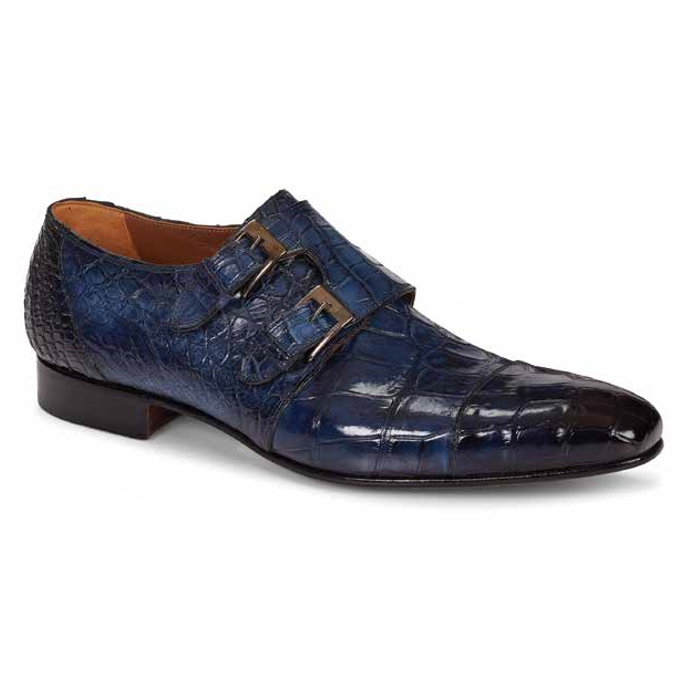 Mauri 1152 Alfieri Double Monk Strap Shoes Wonder Blue (Special Order) Image