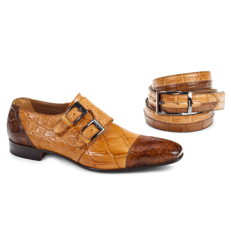 Mauri 1152 Double Monk Strap Shoes Brandy / Rust (Special Order) Image