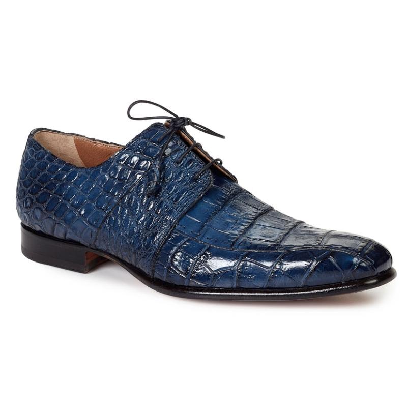 Mauri 1162 Castello Alligator Derby Shoes Wonder Blue (SPECIAL ORDER) Image