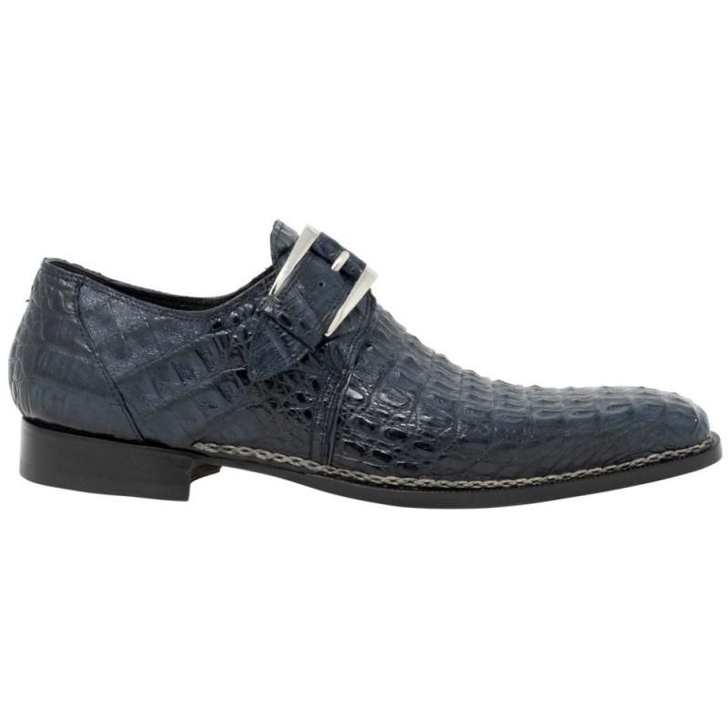 Mauri 1172 Opulent Hornback Monk Strap Shoes Blue Image