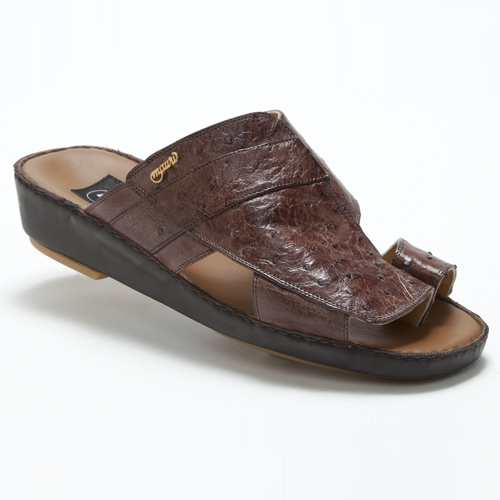 Mauri 1650 Magreb Ostrich Quill Sandals Kango Tobacco (Special Order) Image