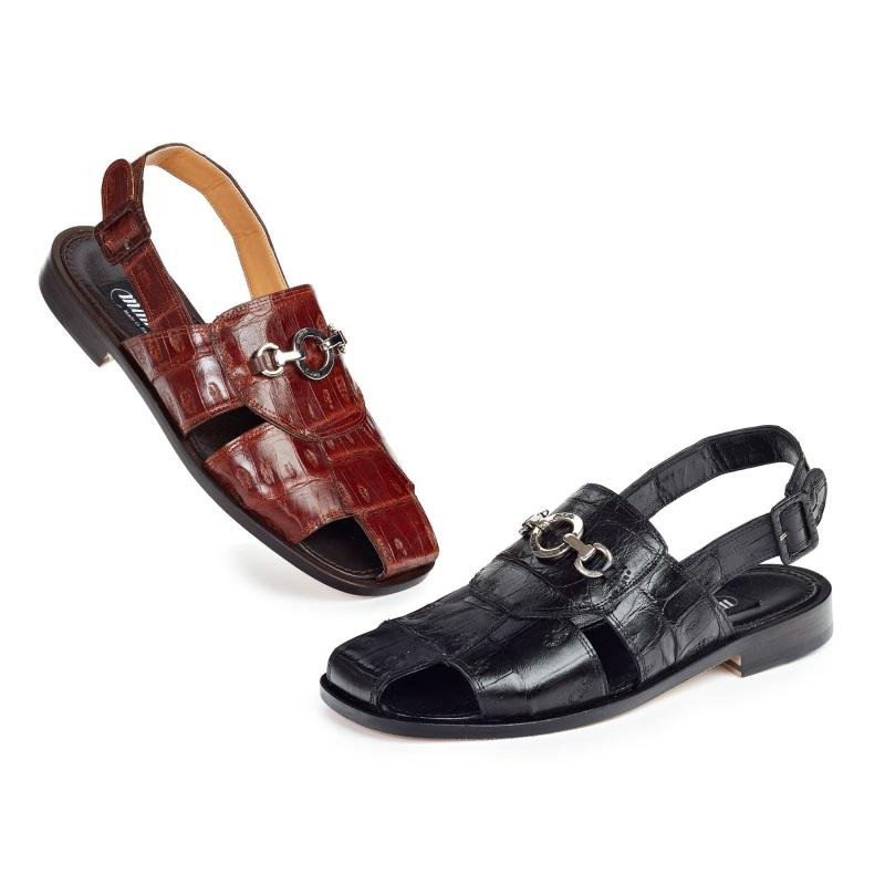Mauri 1880 Marzio Baby Crocodile Sandals (Special Order) Image