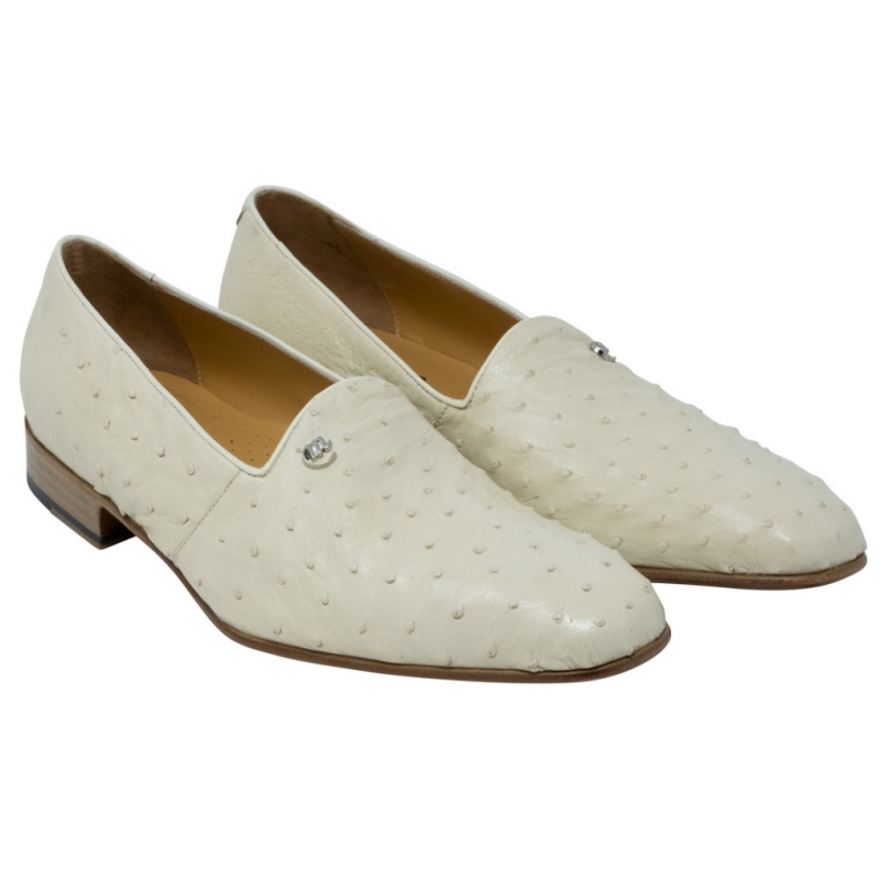 Mauri 3034 Sandstone Ostrich Leg Loafers Winter White Image