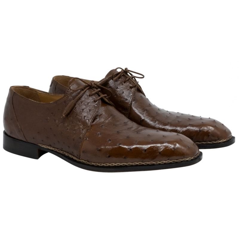 Mauri 3038 Boulevard Ostrich Derby Shoes Kango Tabac Image