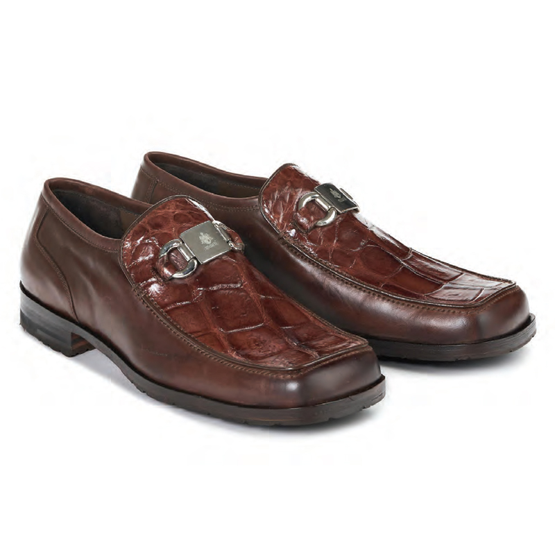 Mauri 3045 Blade Calf Alligator Shoes Sport Rust Image