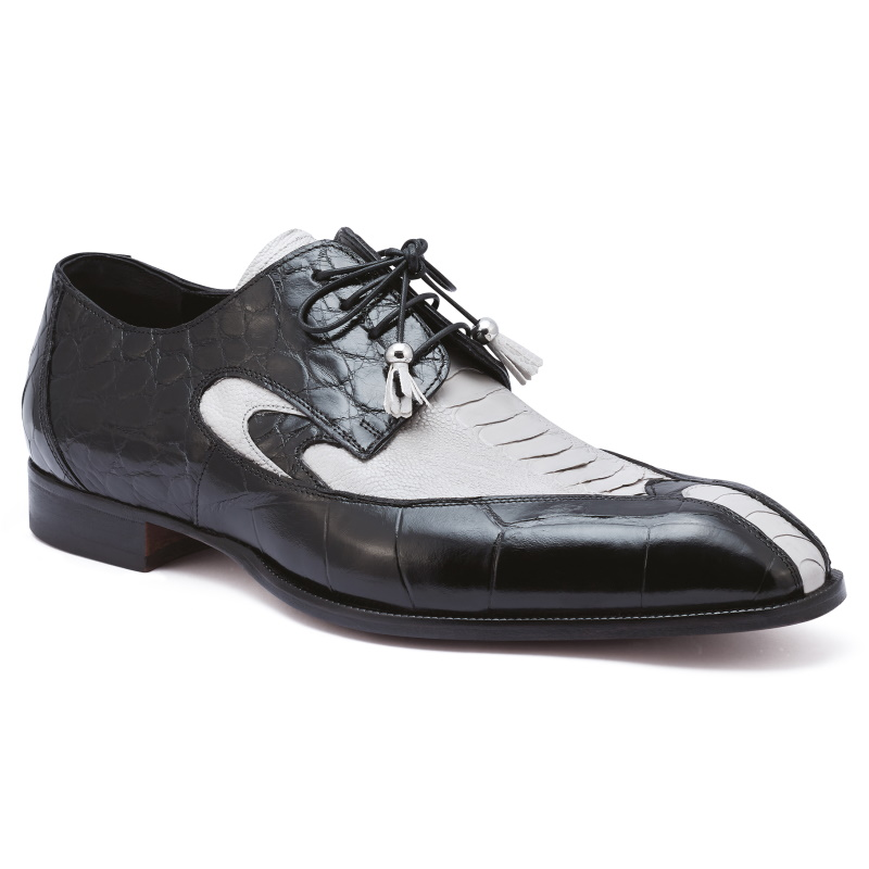 Mauri 3070 Whispers Ostrich & Alligator Shoes Acre Raindrops / Black Image