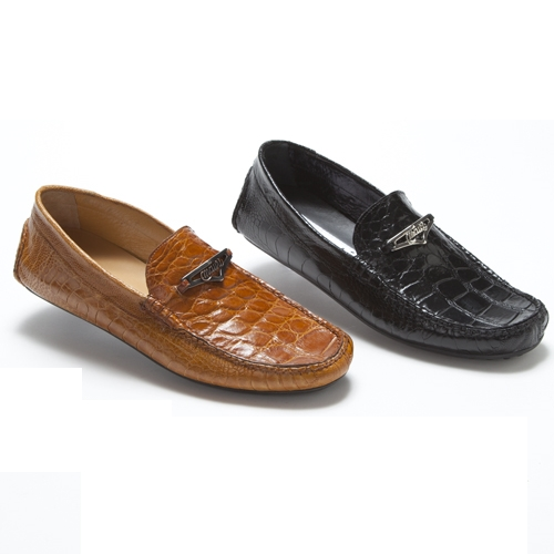 Mauri 3105 Lugano Ostrich Leg & Alligator Driving Bit Loafers (Special Order) Image