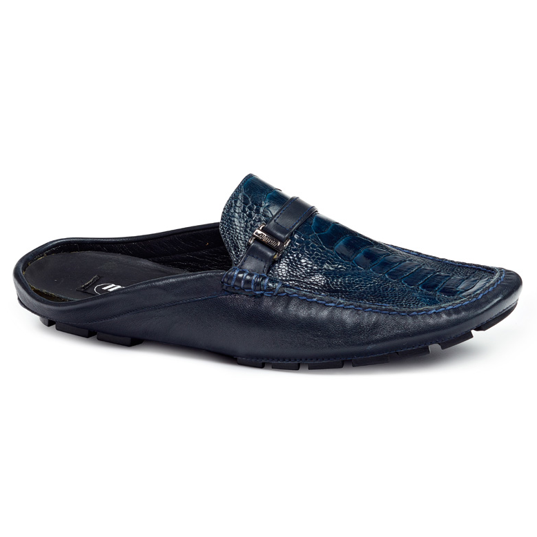 Mauri 3127 S Ostrich Leg & Nappa Sandals Blue (Special Order) Image