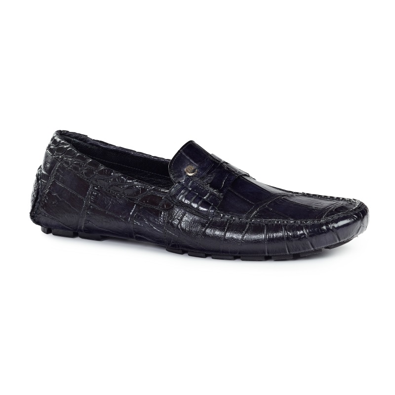 Mauri 3128 Ercole Alligator Driving Loafers Black (SPECIAL ORDER) Image