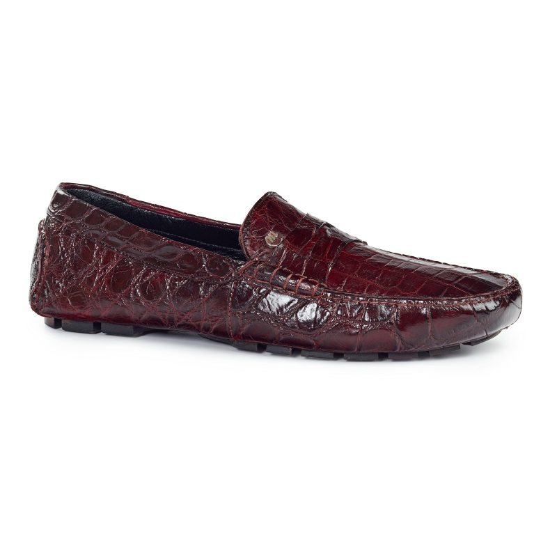 Mauri 3128 Ercole Alligator Driving Loafers Ruby (SPECIAL ORDER) Image